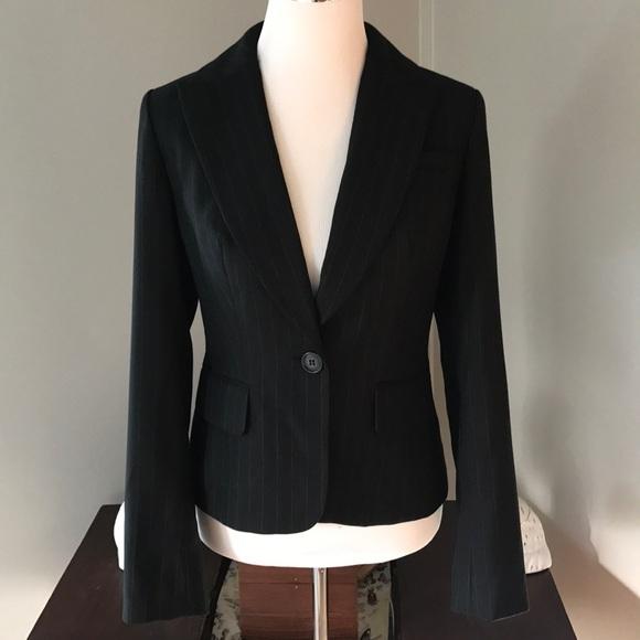 Loft Jackets Amp Coats Black Pin Stripe Blazer Sz 2 Poshmark